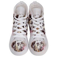 Dog Portrait Pet Art Abstract Women s Hi Top Skate Sneakers