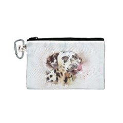 Dog Portrait Pet Art Abstract Canvas Cosmetic Bag (small)