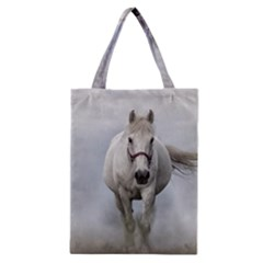 Horse Mammal White Horse Animal Classic Tote Bag