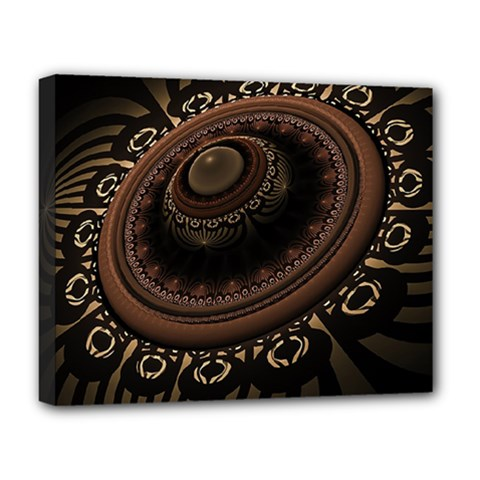 Fractal Stripes Abstract Pattern Deluxe Canvas 20  X 16