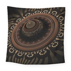 Fractal Stripes Abstract Pattern Square Tapestry (large)