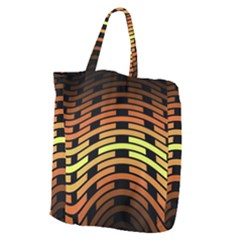 Fractal Orange Texture Waves Giant Grocery Zipper Tote