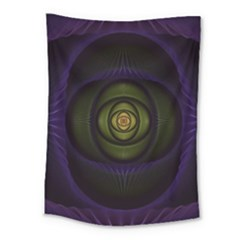 Fractal Blue Eye Fantasy 3d Medium Tapestry