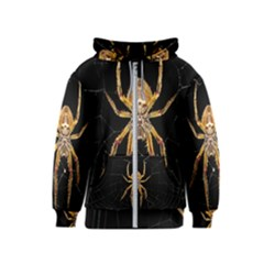 Nsect Macro Spider Colombia Kids  Zipper Hoodie