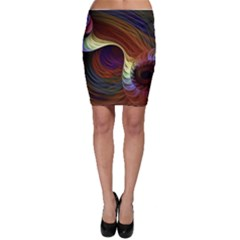 Fractal Colorful Rainbow Flowing Bodycon Skirt