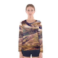 Iceland Mountains Sky Clouds Women s Long Sleeve Tee