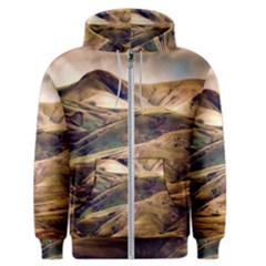 Iceland Mountains Sky Clouds Men s Zipper Hoodie
