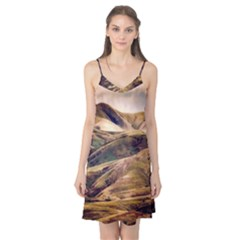 Iceland Mountains Sky Clouds Camis Nightgown