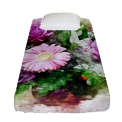 Flowers Roses Bouquet Art Nature Fitted Sheet (single Size)
