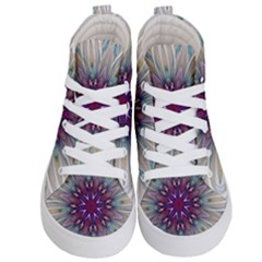 Mandala Kaleidoscope Ornament Kid s Hi Top Skate Sneakers