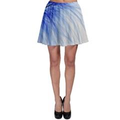 Spring Blue Colored Skater Skirt