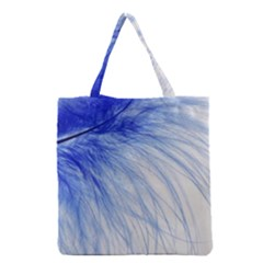 Spring Blue Colored Grocery Tote Bag