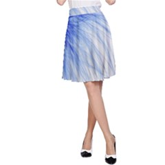 Spring Blue Colored A Line Skirt