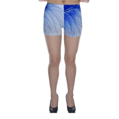 Spring Blue Colored Skinny Shorts