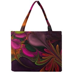 Fractal Abstract Colorful Floral Mini Tote Bag
