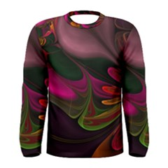 Fractal Abstract Colorful Floral Men s Long Sleeve Tee