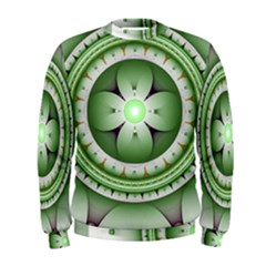 Fractal Mandala Green Purple Men s Sweatshirt