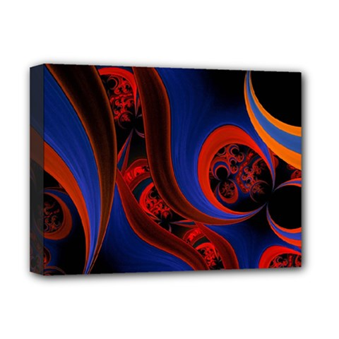 Fractal Abstract Pattern Circles Deluxe Canvas 16  X 12