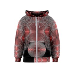 Fractal Diamond Circle Pattern Kids  Zipper Hoodie