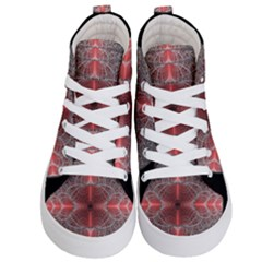 Fractal Diamond Circle Pattern Kid s Hi Top Skate Sneakers