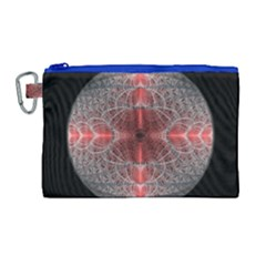Fractal Diamond Circle Pattern Canvas Cosmetic Bag (large)