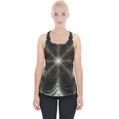 Fractal Silver Waves Texture Piece Up Tank Top