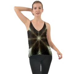 Fractal Silver Waves Texture Cami