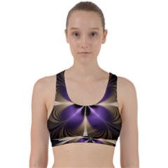 Fractal Glow Flowing Fantasy Back Weave Sports Bra