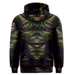 Fractal Colorful Pattern Fantasy Men s Pullover Hoodie