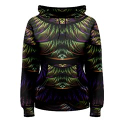 Fractal Colorful Pattern Fantasy Women s Pullover Hoodie