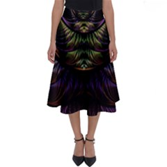 Fractal Colorful Pattern Fantasy Perfect Length Midi Skirt