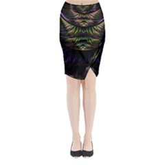 Fractal Colorful Pattern Fantasy Midi Wrap Pencil Skirt
