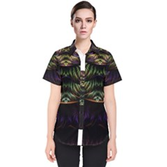 Fractal Colorful Pattern Fantasy Women s Short Sleeve Shirt