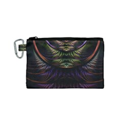 Fractal Colorful Pattern Fantasy Canvas Cosmetic Bag (small)