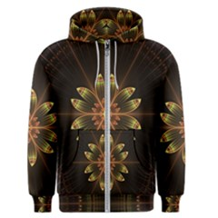 Fractal Floral Mandala Abstract Men s Zipper Hoodie