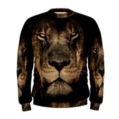 African Lion Mane Close Eyes Men s Sweatshirt