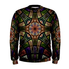 Fractal Detail Elements Pattern Men s Sweatshirt
