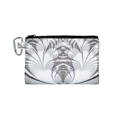 Fractal Delicate Intricate Canvas Cosmetic Bag (small)