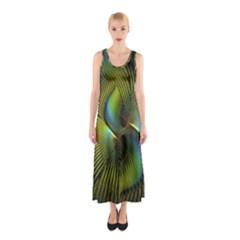 Fractal Abstract Design Fractal Art Sleeveless Maxi Dress