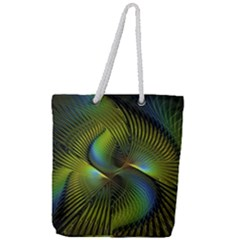 Fractal Abstract Design Fractal Art Full Print Rope Handle Tote (large)