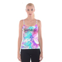 Background Art Abstract Watercolor Spaghetti Strap Top