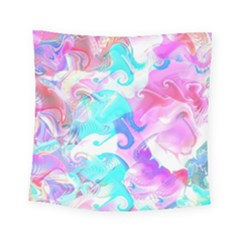 Background Art Abstract Watercolor Square Tapestry (small)
