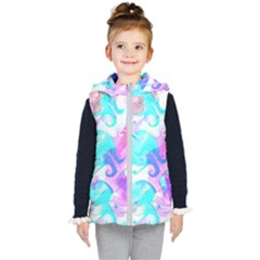 Background Art Abstract Watercolor Kid s Puffer Vest