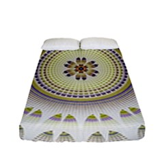 Mandala Fractal Decorative Fitted Sheet (full/ Double Size)