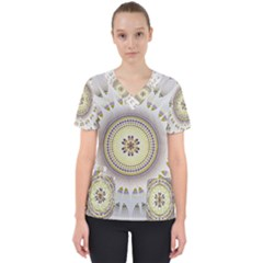Mandala Fractal Decorative Scrub Top