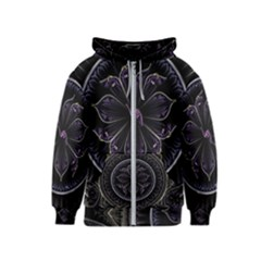 Fractal Abstract Purple Majesty Kids  Zipper Hoodie