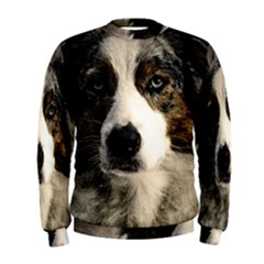 Dog Pet Art Abstract Vintage Men s Sweatshirt