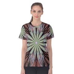 Fractal Floral Fantasy Flower Women s Cotton Tee