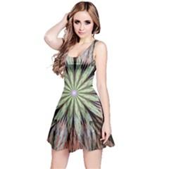 Fractal Floral Fantasy Flower Reversible Sleeveless Dress