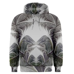 Fractal White Design Pattern Men s Pullover Hoodie